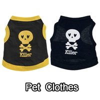 animals killers - dog summer clothes pet skull quot killer quot T shirt printing T shirt Dog Clothes Dog Shirt Dog dress pet apparel
