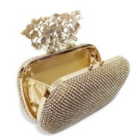 Wholesale 2016 New Fashion Bling Diamond Evening Clutch Women Evening Bags Black Silver Gold Handbags With Both Chians Femal Messenger Bags MYF74