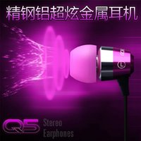 Wholesale Bo Marcos Q5 metal ear earphone mp3 stereo ear phones laptops General