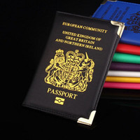 Card Holders artificial kingdom - 1 Passport Holder European Community United Kingdom Britain PU Artificial Leather Protector Passport Bags Cover Case