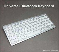 Wholesale Universal Aluminum Bluetooth Wireless Keyboard For IPad Air IPad mini IPhone S S iMac PC Galaxy S3 S4 keys MQ100