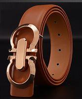 Belts brand belt - 2015 Fashion brand Metal series smooth Buckle mens belts luxury leather belt European style belts for Men