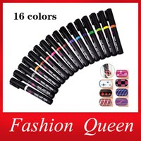 Wholesale 5pcs Pro Fashion Nail Art Pen Polish Painting Dot Drawing UV Gel Design Manicure Nail Beauty Tools