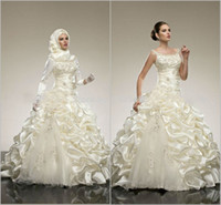 Wholesale Beautiful Wedding Dresses A Line Beaded Applique Squarel Beach Wedding Dresses Sleeveless Floor Length Charming Spring Ivory Bridal Gown