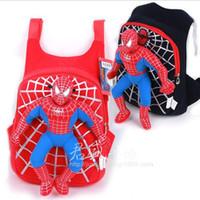 Wholesale Cartoon New Cute D spiderman boys school bag backpack children bags for school kids mochilas infantil