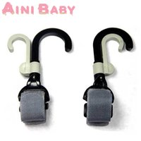Wholesale 2 New Baby Stroller Accessories Baby Carriage Swivel Hanger Hooks poussette Baby Car Pram Accessory