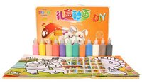 Wholesale Colors DIY Children s Sand Painting Creative Colored Sand Painting Kid s Educational Toys Promotional Gifts Free