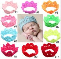 bebe hair - New Newborn Kids Infantil Bebe Baby Girls Headbands Hair Bows Tiaras Princess Queen Crown Crochet Photography Props