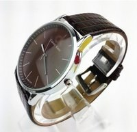 Wholesale new watches hot new electronic quartz men s luxury watch brand clock fashion watches Circular dial Leather strap watches