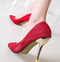 Cheap 6 Styles Popular Red Prom Shoes Spring 2015 High Heels Wedding Bridal Shoes Bridesmaid Shoes Lady Formal Prom Party Shoes