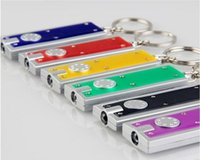 Wholesale Mini LED Camping Keyring Flash Light Torch Keychain Lamp Key Chain outdoor LED key chain flashlight promotional creative gifts
