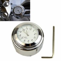 Wholesale quot quot Universal Motorcycle Motorbike Bike Handlebar Bar Mount Clock Waterproof