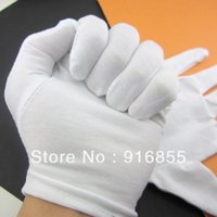 Wholesale Pairs High Quality White Hundred percent Cotton Gloves Work gloves Working Gloves Safety Protective Gloves