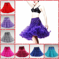 Wholesale Fashion cm Adult Pettiskirts Tutu Dresses Women Short Tulle Skirt Party Ball Gown Bridesmaid Underskirt Dress Plus Size Knee Length