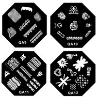 Wholesale QA series stencil printing press template reusable imaging plates DIY nail tools Forearm Butterfly QA