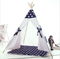 Wholesale Kids Teepee Play Tent cotton Canvas indoor or outdoor Playhouse with Case A3