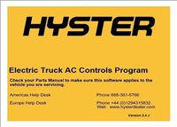 ac software - Hyster Electric Truck AC Controls Program ETACC v2 K with installation instruction PDF file