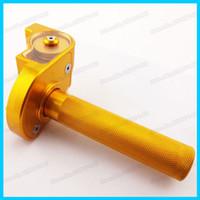 Wholesale CNC Gold Aluminum Billet Twist Throttle Control For Vintage Motorcycle CRF KLX TTR IMR SSR XR YCF SDG Pit Dirt Bike order lt no track
