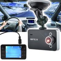 Wholesale Car Dvr Recorder K6000 Car Camera Full HD DVR Camcorder quot P Camera Camcorder DVR Night Version Wide Angle Lens DVRs