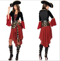 Wholesale Halloween Costumee Sexy dress Party Prop Pirates of the Caribbean costumes female pirate cosplay halloween costume for women