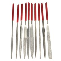 Wholesale Brand New High Quality Metal Red Glass Diamond Needle File Lapidary Ceramic Set Tool Jewelers Woodwork Micro Set