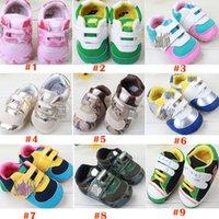 baby children footwear - 9 Color New Baby Boys And Girls First Walker Shoes Kids Sport PU Prewalker Shoes Children Outside Anti Slip Shoes Toddler Footwear GZ G