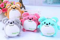 animal vole - Keys Plush Small Pendants Cute Animal Stuffed Vole Toys Dolls Mobile Phone Hangs Kids Backpack Pendant Toy Good Gift