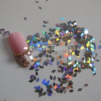 ar bags - ails Tools Stickers Decals GD24 g bag Tiny Laser Silver Diamond Glitter Nice Nail art Glitter Pieces Nail ar