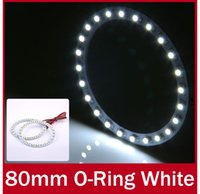 Wholesale 2pcs mm LEDs SMD Angel Eyes Halo Ring Light Super Bright Light Circle V for BMW Style White Blue Red Yellow