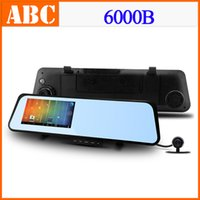 Cheap 6000B Car DVR WIFI GPS Navigation Camera with Rear View Mirror Recorder 1080P 30FPS H.264 140 Wide Lens IR Night Vision -W