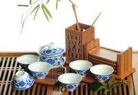 porcelain teapot white - 8pcs Delicate Tea Set Qinghua Teapot Blue and White Porcelain Teaset TQ07