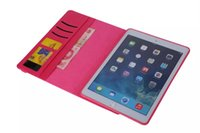 apple ipad checker - 360 degree Rotating Rotary Diamond Checker Leather Wallet Case pouches For Ipad Mini Air tablet Bag Stand Credit Card TPU Cover