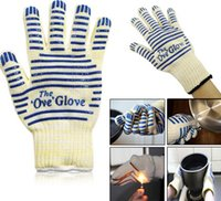 oven mitt gloves - Ove Glove Oven Mitts Hot Surface Handler finger Microwave Gloves Non Slip Silicone Grip heat resistance gloves outdoor cooking BBQ Tools