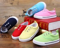 age shoes - Fashion Baby Boy Girl Sports Shoes First Walkers Children Sneakers Soft Bottom Anti Slip Baby Canvas Shoes candy colors For age