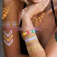 Wholesale Hot stamping silver pressed tattoo stickers Waterproof non toxic Environmental protection paper crafts
