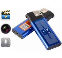 Wholesale Hot sale Mini DV Metal Lighter Hidden Spy Cam Camera Nanny DVR USB Video Recorder
