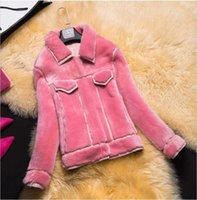 america sheep - New Europe and America Big Anti fur sheep wool Woman Fur control Coat Overcoat JSH215