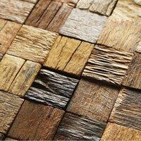 interior wall paneling - Efflorescent wood paneling d tiles interior wall deco mesh coverings kitchen bathroom backsplash tile mosaics hotel bar tiles