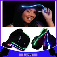 led hats - New Design LED Light Hat Party Hats Boys and Grils Caps Baseball Caps Fashion Luminous Different Colors Adjustment SIZE