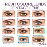 cosmetic contact lenses - and LENS CASE dia big eye fresh look color lens cosmetic soft contact lenses FRESH COLORBLENDS colors PAIR