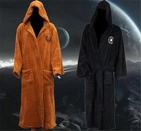 adult jedi costume - 2 colors Star Wars Unisex bathrobe Darth Vader Coral Fleece Terry Jedi Adult Bathrobe Robes Cosplay Costume D547
