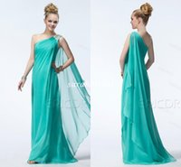 Cheap 2015 Fashion Design Flowy Train Sheath Bridesmaid Dresses Beaded Greek Goddess Style Chic Beach Garden Countryside Rustic Bridal Party Gowns
