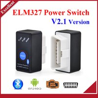 Wholesale High quality Super Mini Bluetooth ELM327 V2 OBD2 Diagnostic Scanner With Power Switch Work on Android Symbian Windows ELM
