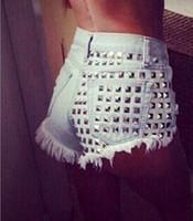 high waisted shorts - Women s Fashion Brand Vintage Tassel Rivet Ripped Loose High Waisted Short Jeans Punk Sexy Hot Woman Denim Shorts