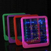 advertise pads - Creative LED Notepad LED Note pad Memo LED message board led Advertising display board with Highlighter