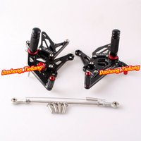 adjustable foot rest - CNC Aluminum Alloy Arashi Rearset Foot rest Pegs Footpegs For Kawasaki Z1000 Z Adjustable Black order lt no track
