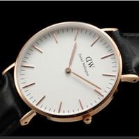 Wholesale 2015 Fashion Clock Female Daniel Wellington Watches Men Quartz Watch DW Casual Women Dress Wristwatches Relogio Feminin