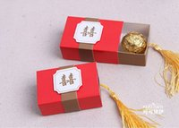 ancient chinese symbols - 50sets Beautifully Adorned with The Ancient Chinese Symbol quot Double Happiness quot Favor Boxes Wedding Candy Box