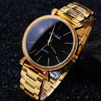 accent stainless steel - Top Brand Mishali Women k Solid Gold Stainless Steel Watch Luxury CZ Crystal Accented Dress Watch for Lady JK