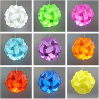 Wholesale 30pcs CM IQ Puzzle Creative Jigsaw Bar Decor Light Lamp Shade Lampshade Design Size M Decoration